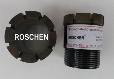 HX NX BX Diamond Core Drill Bits For Ultra Hard Rock Formations Exploration Core Drilling