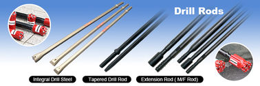 11 Degree Tapered Rock Drill Rods , Tungsten Carbide Rod In Underground Mining Industry